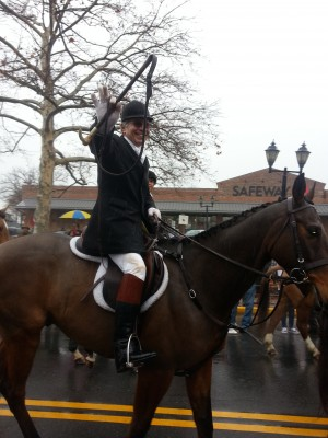Ex-Master Of Foxhounds, Jack Ferguson in Hunt Parade