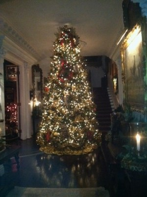 Christmas tree in Rose Marie Bogley's entry hall.