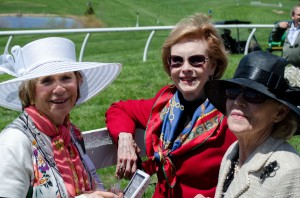 Ladies Sporting their Chapeaux at Glenwood (one missed the memo)