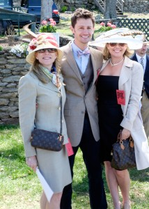 Anne Sittman and the Greenwells sport classic race attire at the Middleburg Hunt Point to Point. Photo by Middleburg Photo.